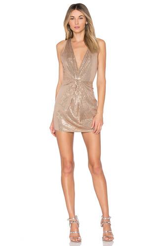 dress metallic bronze