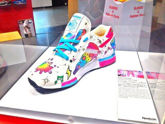 Reebok shoes eva cheung tennis shoes multi-colored multi-color kawaii