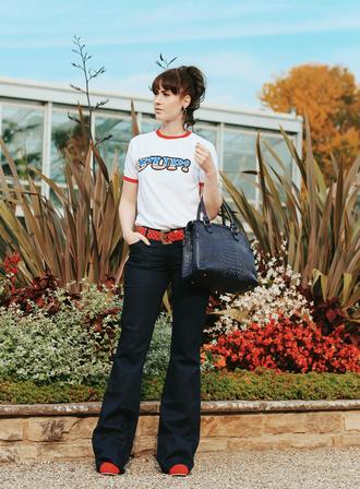 like a riot blogger bag shirt shoes jewels jeans belt