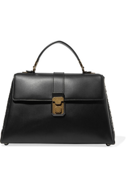 Bottega Veneta leather black bag