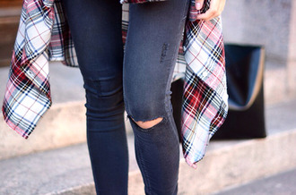 jeans grunge flannel shirt weheartit tumblr outfit rock indie