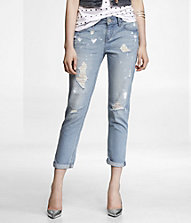 ANKLE ROLLED DESTROYED BOYFRIEND JEAN | Express