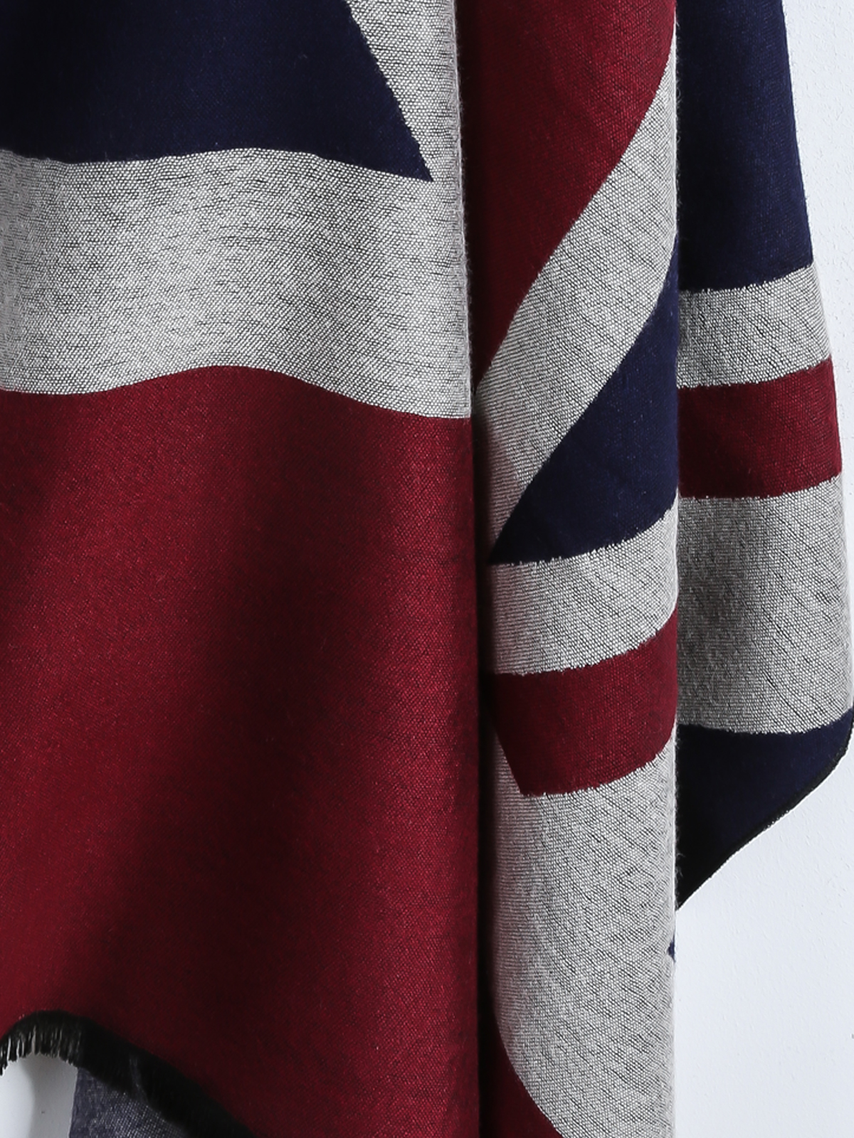 Navy union jack print scarf