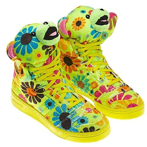 Neon Flower New Jeremy Green Faux Js Nib Teddy Scott Fur Bear Adidas Rare Shoes N80vmwn