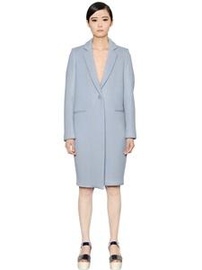 Light melton wool coat