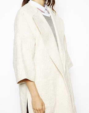 ASOS | ASOS Coat in Trapeze with Stepped Hem at ASOS