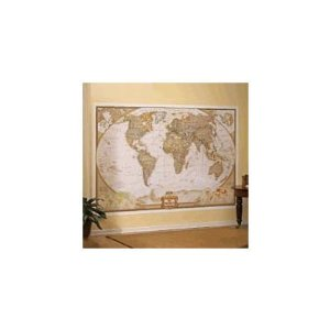 Amazon.com: National Geographic Executive World Map Wall Mural Children, Kids, Game: Toys & Games