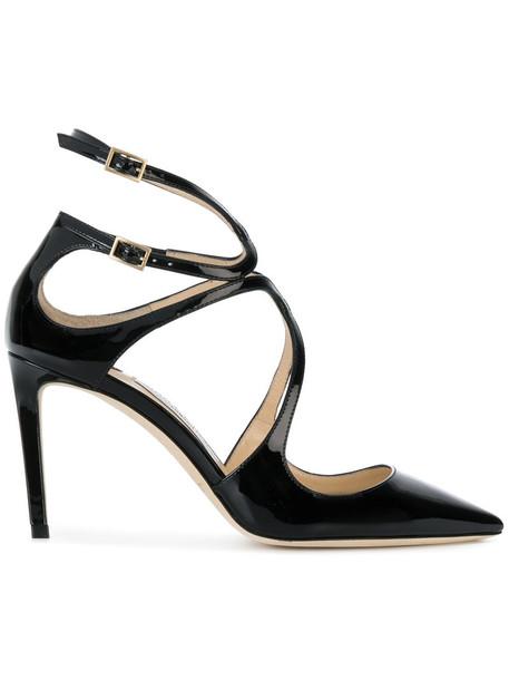 Jimmy Choo women pumps leather black shoes