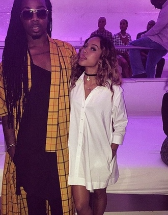 shirt karrueche white shirt dress