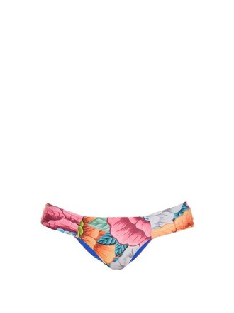 bikini print blue orange swimwear