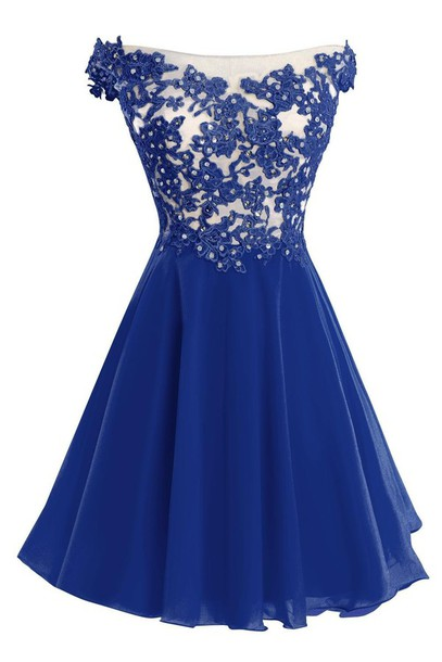 Dress short lace dresses short lace prom dress short for Royal blue short wedding dresses