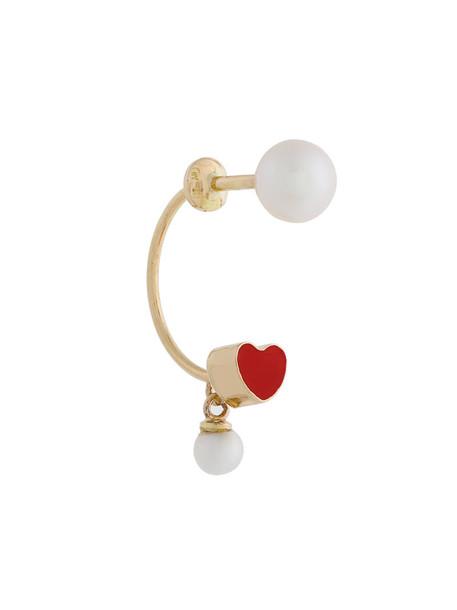 Delfina Delettrez heart women gold grey metallic jewels