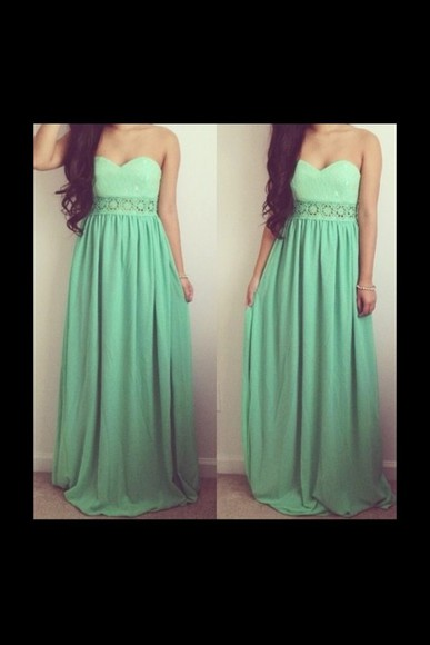 dress green dress long prom dress prom dress lace