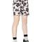 Floral cotton poplin shorts