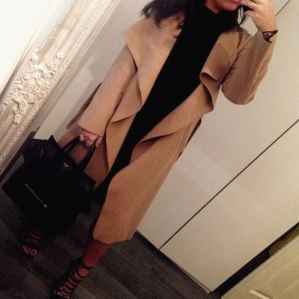 coat long coat long jacket beige coat winter coat