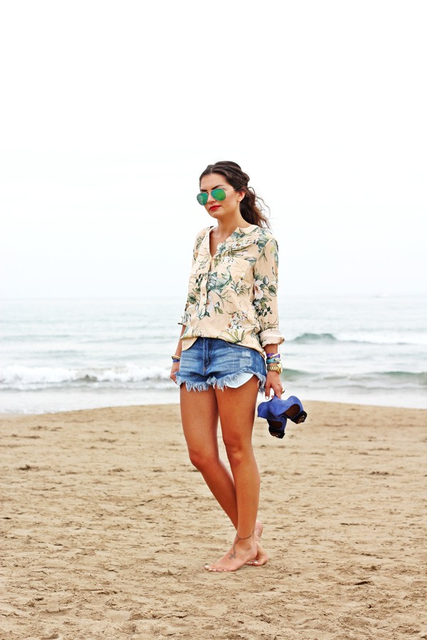 fashionhippieloves blouse shorts bag sunglasses shoes jewels