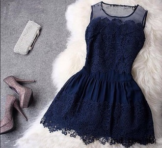 dress dark blue shoes