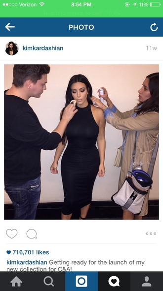 dress black dress kim kardashian