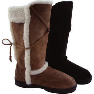 LADIES TALL FUR WINTER SNOW SNUGG WARM BOOTS THICK SOLES SIZES 3-8 HUG | Amazing Shoes UK