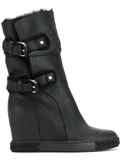 CASADEI women ankle boots black shoes