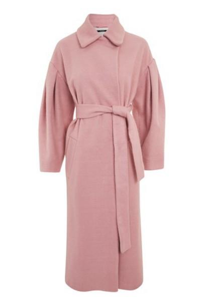 Topshop coat pink