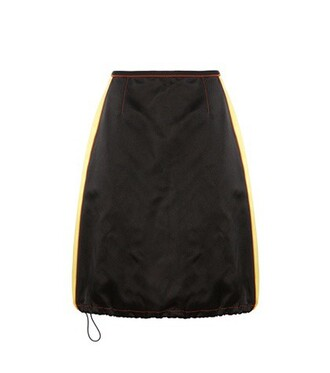 skirt silk satin black