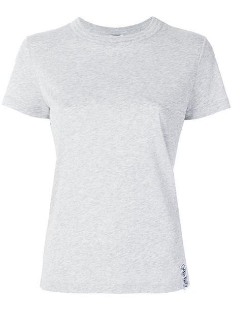 Kenzo t-shirt shirt t-shirt women cotton grey top