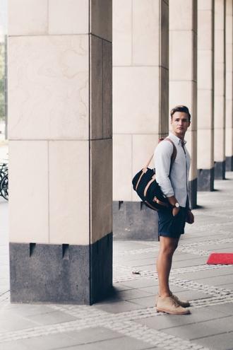 whysheckler blogger bag shirt shorts shoes mens holdall