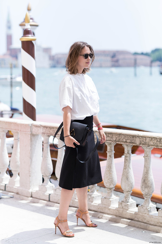 skirt shirt shoes bag sunglasses after drk