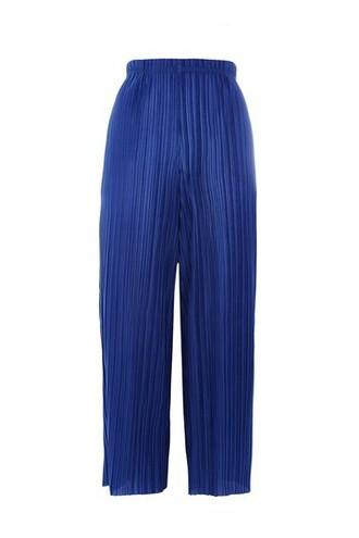 matte blue pants