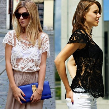 Aliexpress.com : Buy 2014 New Fashion Summer Women's Lace Blouse Shirt Lace Embroidery Floral Crochet Shirt Sleeve Sexy Hollow Out Retro Blouse from Reliable blouse ladies suppliers on Shenzhen Gache Trading Limited