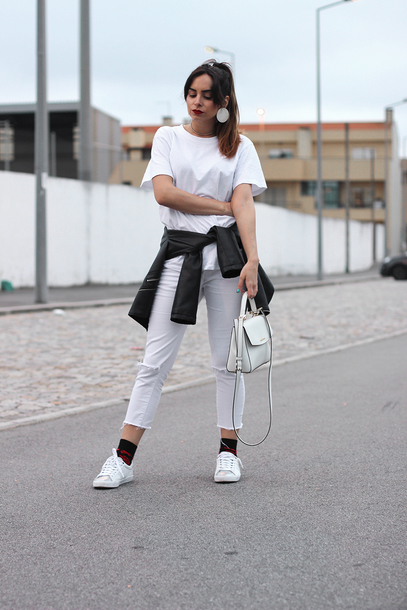 jeans, tumblr, cropped jeans, white