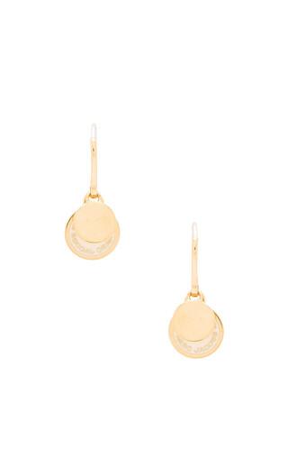 earrings metallic gold