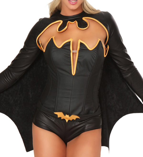 Hot And Sexy Hollow Out Long Sleeve Stretchy Skinny Polyester Cosplay Costume Set Of Holloween For Women