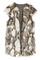 Sleeveless fake fur pocketed vest, the latest street fashion