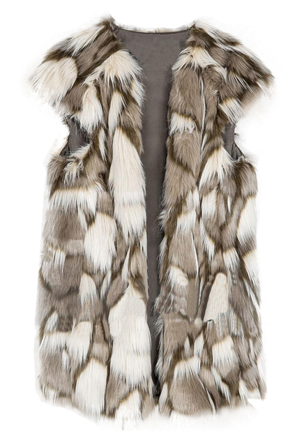 ROMWE | Sleeveless Fake Fur Pocketed Vest, The Latest Street Fashion