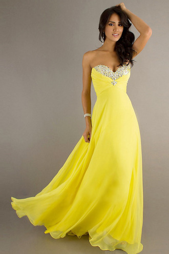 dress long prom dress daffodil prom dress prom dress long