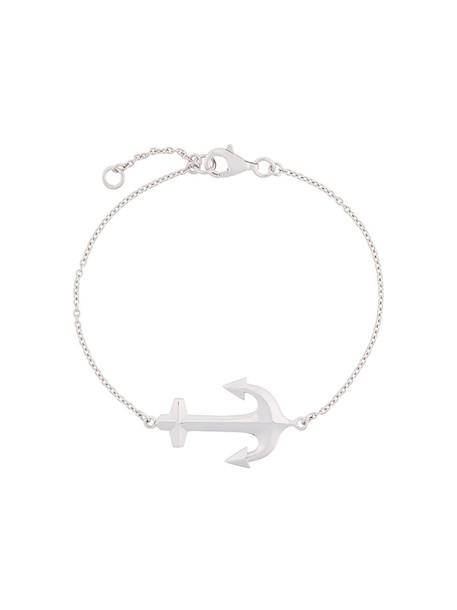 anchor bracelet anchor women silver grey metallic jewels
