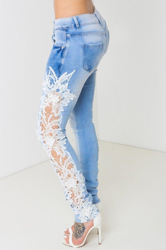 Womens Light Blue Skinny Jeans