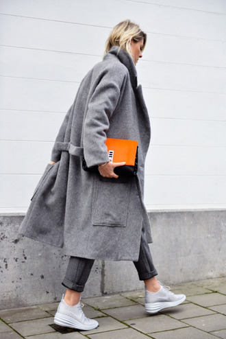 coat trench coat jacket grey grey charcoal jacket grey coat