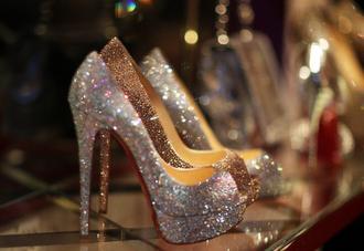 glitter shoes glitter high heels heels party shoes