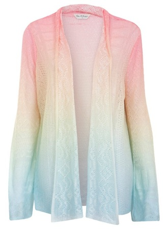 jacket shirt cardigan rainbow pink pastel tumblr ombre yellow blue