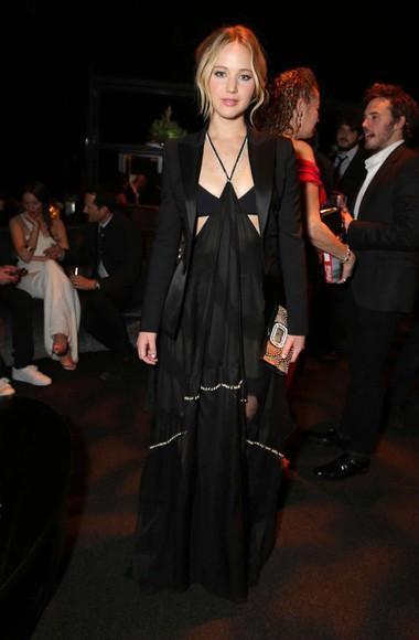 dress black sheer jennifer lawrence party