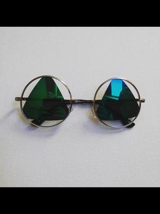 sunglasses hipster bikini hipster jewelry hipster triangl reflection dress mirror mirrored sunglasses