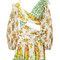Golden surfer cutout mini dress
