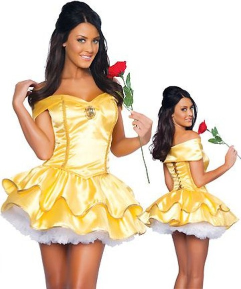 fairytale fairy dress yellow yellow dress skirt white lace skirt red rose disney princess costume hello fashion most wanted princess dress diamond
