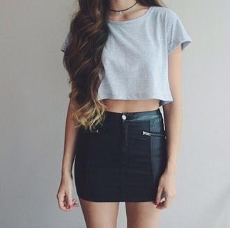 skirt body bodycon tight black skirt black leather skirt mini skirt