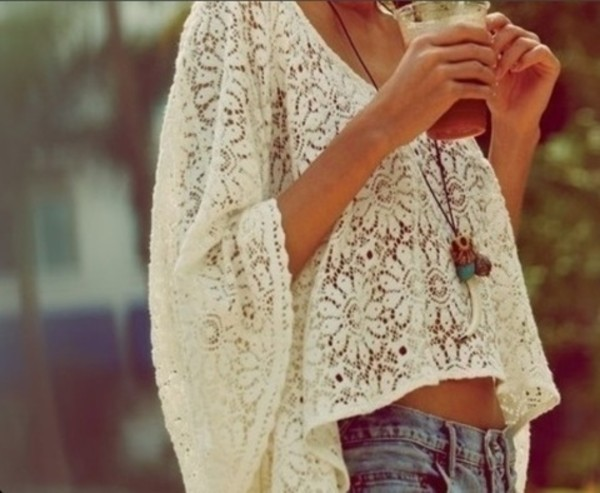 shirt boho lace big shirt blouse t-shirt