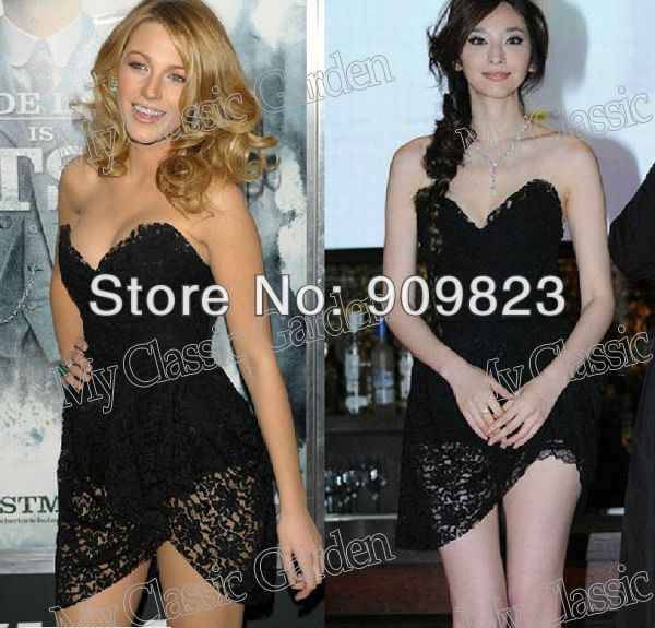 Aliexpress.com : buy new gossip girl blake lively sweetheart black lace mini short celebrity dresses gowns 2013 new from reliable dress new suppliers on my classic garden