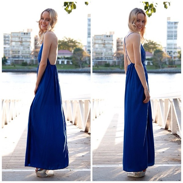 maxi dress maxi open back split skirt plunge v neck shopfashionavenue